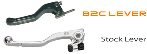 Brembo B2C Dirt Bike Clutch Lever comparison to OEM